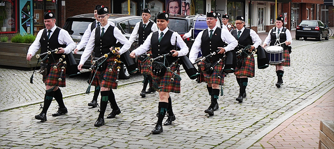 Highland Games Bremen - Programm, Band, Hamburg Caledonian Pipes & Drums, Dudelsack