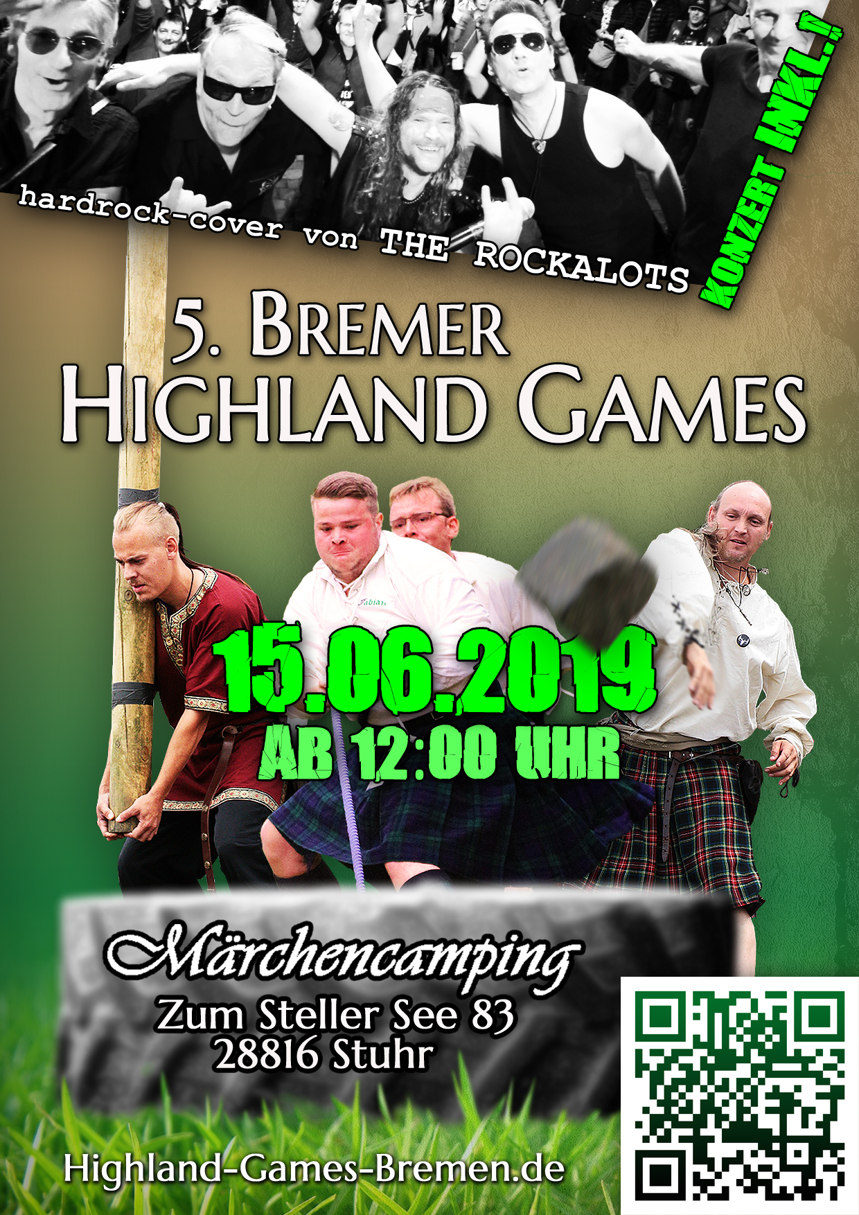 Highland Games Bremen Flyer Front