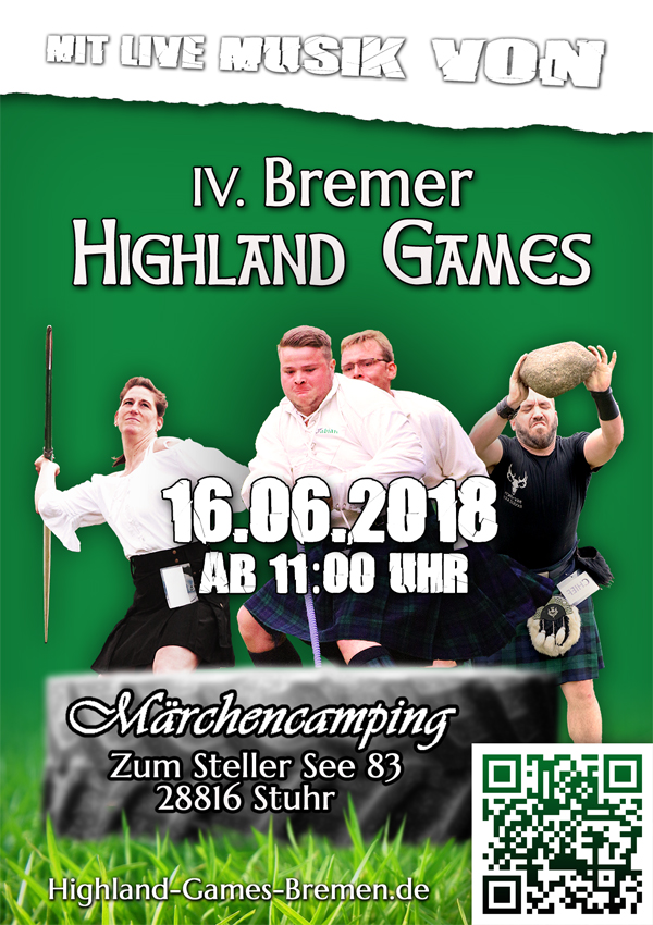 Highland Games Bremen - Flyer Dummie 2018